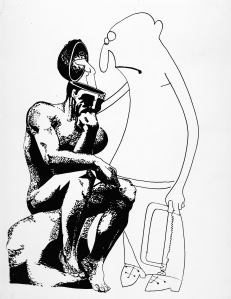 The direct approach to understanding The Thinker