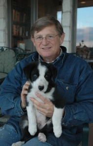 Yours truly with Buddy as a puppy