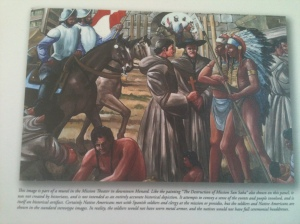 Depiction of Padres Meeting Apache Chiefs and Mission Construction