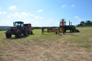Yours truly with baling equipment