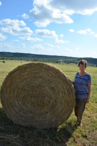 Trudy with Hay bale