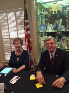 Trudy and i at book signing following the Lubbock Women's Club presentation