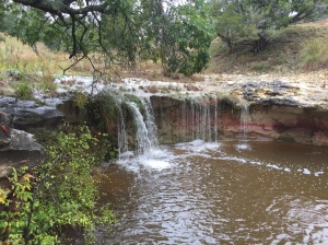 A waterfall at Hidden Falls Ranch, November 2016
